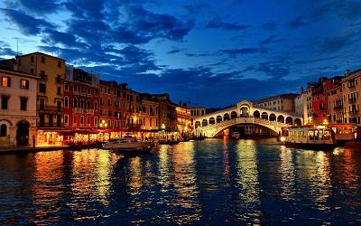 ונציה בלילה   Venice at Night ונציה בלילה   Venice at Night  גשר