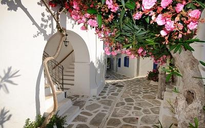 יוון  רחוב בכפר greece village streets