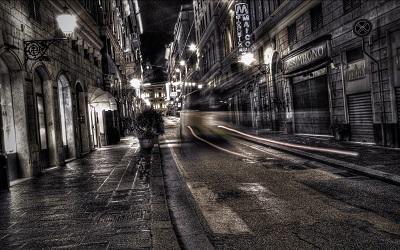city black whiteGP-CITY-351-city_black_white_road_street_night_traffic
