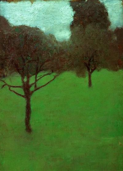 גוסטב קלימט - OrchardOrchard  עצים