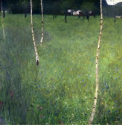 גוסטב קלימט - Farmhouse with Birch TreesFarmhouse with Birch Trees  עצים
