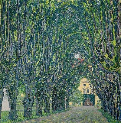 גוסטב קלימט - Alley in the park of the palace CummerAlley in the park of the palace Cummer