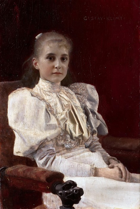 גוסטב קלימט - Seated Young GirlSeated Young Girl
