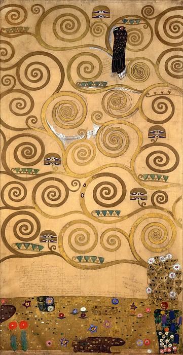 גוסטב קלימט - Mural for the dining room of the Stoclet Palais 5Mural for the dining room of the Stoclet Palais 5