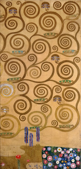 גוסטב קלימט - Mural for the dining room of the Stoclet Palais 4Mural for the dining room of the Stoclet Palais 4
