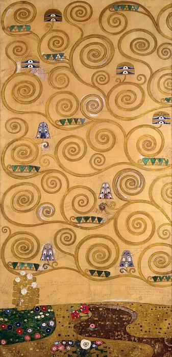גוסטב קלימט - Mural for the dining room of the Stoclet Palais 2Mural for the dining room of the Stoclet Palais 2