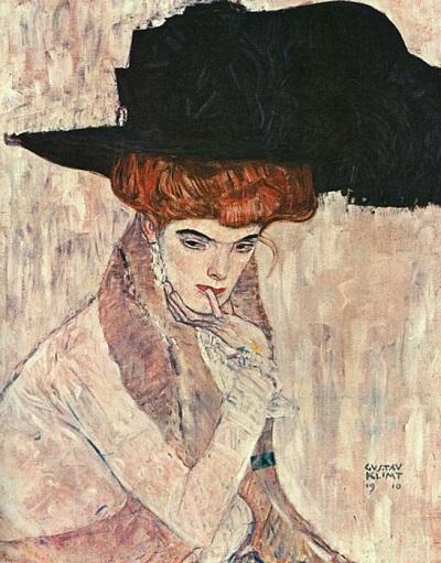 גוסטב קלימט - Black Feather HatBlack Feather Hat
