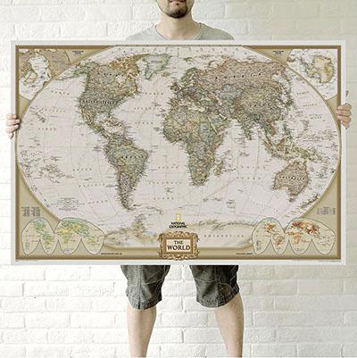 מפת עולם מדינית,מראה קלאסי