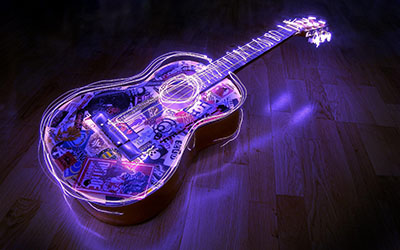 Neon Lights Guitarמוזיקה - טרנס   מוסיקה electric-guitars גיטרות _Neon-Lights-Guitar