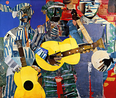 romare bearden - three folk musiciansמוסיקה מוזיקה