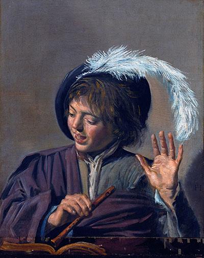 Frans Hals - Singing Boy with Fluteמוסיקה מוזיקה