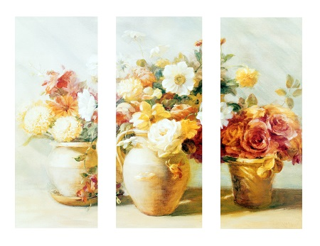 פרחים - תמונה בחלקיםפרחים  עציצים אגרטלים - תמונה בחלקים