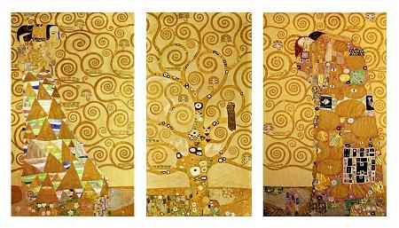 קלימט, עץ החיים - דוגמא לתמונה בחלקים תמונה בחלקים , קלימט, עץ החיים