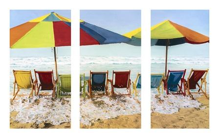 שמשיות חוף ים - תמונה בחלקים  תמונה בחלקים   - שמשיות חוף ים