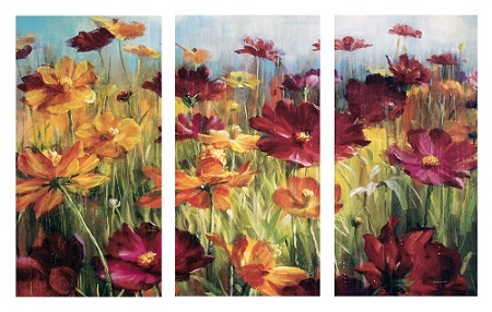 פרחים  - תמונה בחלקיםפרחים  - תמונה בחלקים