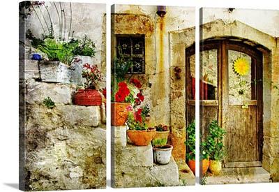 אפשרות לחלוקת תמונות - כפר יווני - תמונה בחלקים