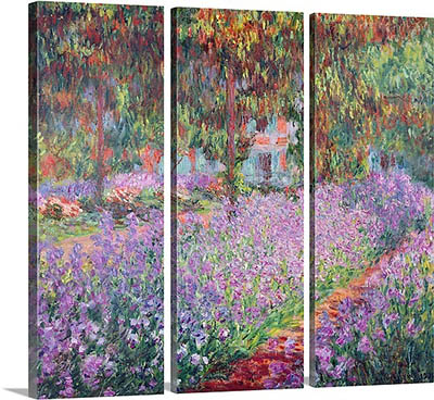 דוגמא לתמונה מחולקת - מונה  the-artists-garden-at-giverny the-artists-garden-at-giverny