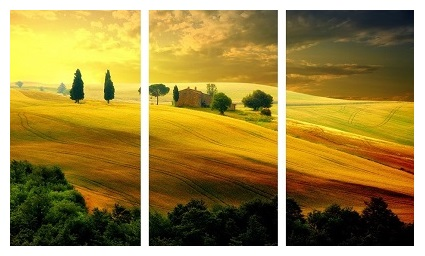 נוף - תמונה בחלקיםנוף כפרי