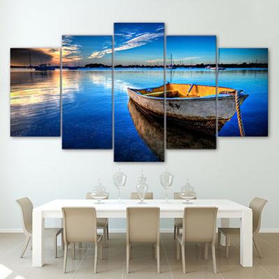 סירה תמונות לסלון תמונות לבית פרויקטים סט תמונות