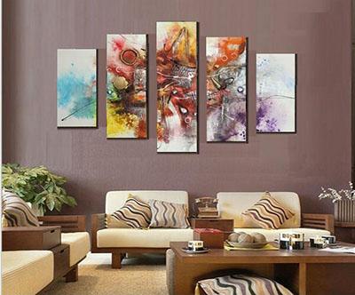 אבסטרקט - תמונה בחלקים - סלוןתמונות לסלון תמונות לבית פרויקטים סט תמונות