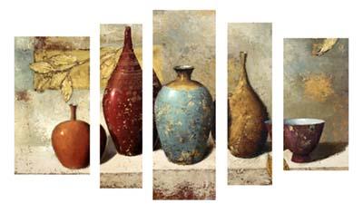 כדים בקבוקים   - תמונה בחלקים