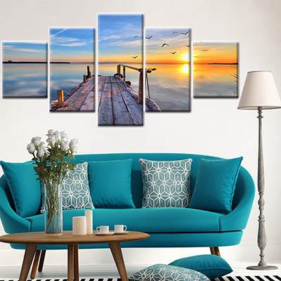 שקיעה על מזחשקיעה על מזח ים שקיעות גשר תמונות לסלון תמונות לבית פרויקטים