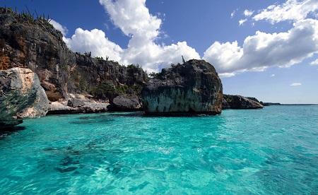 הרפובליקה הדומיניקנית חוף טרופי ים   _palm_trees  _dominican_republic_wild_beach