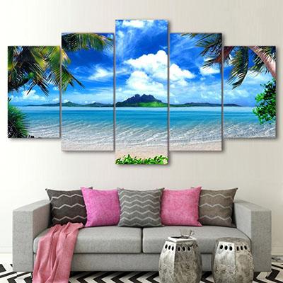 חוף ואיתמונות לסלון תמונות לבית פרויקטים סט תמונות