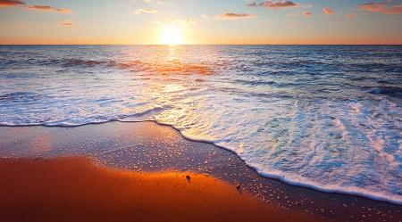 חוף הזהב golden beach - שקיעה