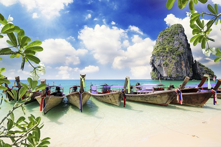 Railay beach in Krabi Thailand Railay beach in Krabi Thailand