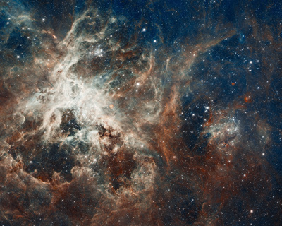 Hubble's Panoramic View of a Turbulent Star-making RegionHubble's Panoramic View of a Turbulent Star-making Region
