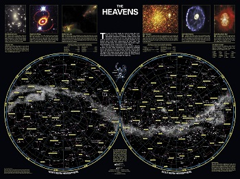 מפת השמים Star  map  of  the  heavensמפת השמים Star  map  of  the  heavens