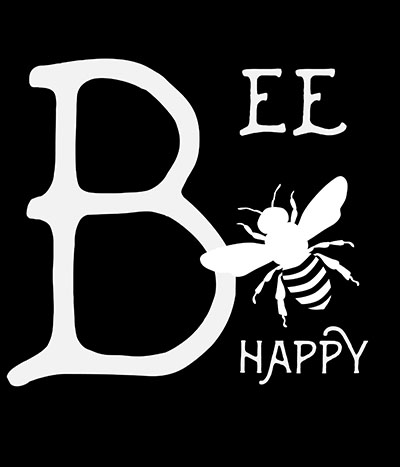 Bee-Happy  - תמונה על קנבס,מוכנה לתליה.   Bee-Happy