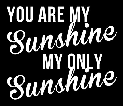 You-Are-My-Sunshine - תמונה על קנבס,מוכנה לתליה._Love-You-Are-My-Sunshine