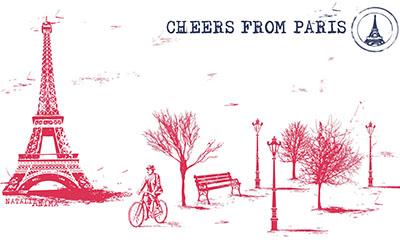 פריז - תמונה על קנבס,מוכנה לתליה. פריז   paris-france-city-bicycle-trees-eiffel-tower-bench-paris-france-a-city-bike-the-trees