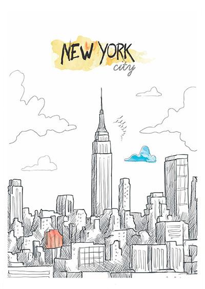 ניו יורק - תמונה על קנבס,מוכנה לתליה.129