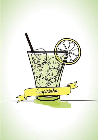 קפירינייה- תמונה על קנבס,מוכנה לתליה. 129תמונות של משקאות