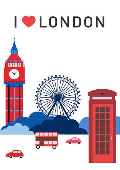 לונדון - תמונה על קנבס,מוכנה לתליה.129  לונדון