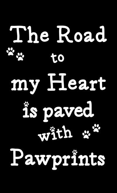אהבה  - תמונה על קנבס,מוכנה לתליה._Pets-Paved-With-Paw-Prints