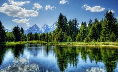 נוף הרים ואגםנוף הרים ואגם