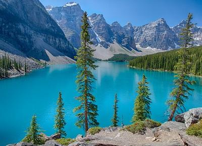 אגם הרים נהר עצים עץ autumn_river_mountains_trees אגם