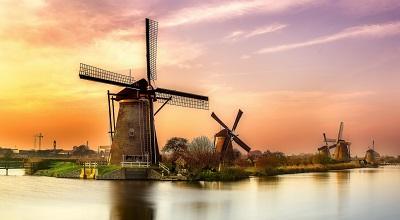 הולנד hollandהולנד   - שקיעה  holland תחנת רוח  תחנות רוח  נוף נופים