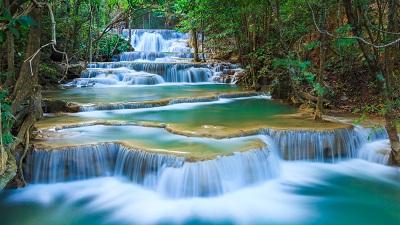 Kanchanaburi waterfall Kanchanaburi waterfall