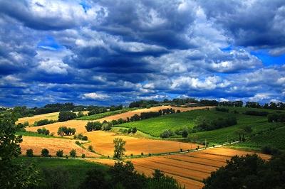 אומבריה - איטליה תמונות של שדות צילומים כרמים