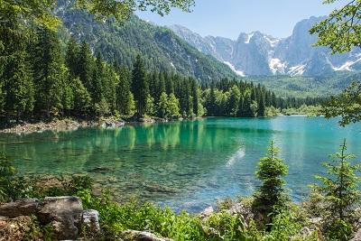 fusine lakes italy fusine lakes italy mountains snow nature