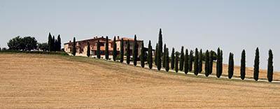 נוף כפרי תמונות של שדות צילומים איטליה   טוסקנה      נוף כפרי  Via_Cassia_-_Masseria_e_cipressi