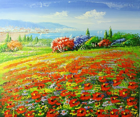 פרחים  ונוף פרחים  ונוף   129