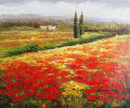 פרחים ונוףדרך ועצים    129