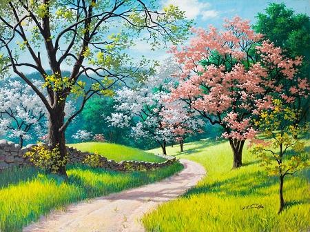 פריחת האביבפריחת האביב נוף כפרי    _spring-blossoms-arthur-saron