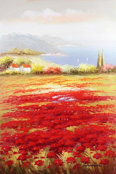 פרחים אדומים ונוףפרחים אדומים ונוף   נוף ים